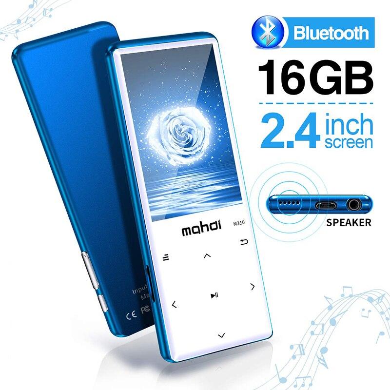 Nouveau lecteur MP3 avec Bluetooth 4.2, boutons tactiles avec écran 2.4 pouces, lecteur Audio numérique sans perte Portable 16 go avec Radio FM