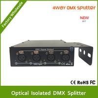 Oferta DHL envío gratis Venta al por mayor 4 piezas divisor óptico aislado DMX de alta calidad, divisor dmx de 4 vías para divisor de luz de escenario