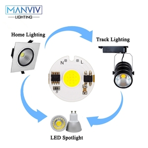 Image 5 - LED COB שבב מנורת 12W 9W 7W 5W 3W 220V חכם IC גבוהה בהירות נהג Fit DIY עבור זרקור הארה קר לבן חם לבן