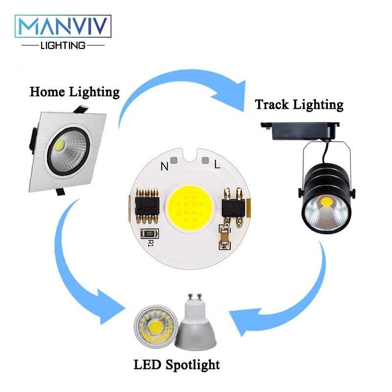 Image 5 - LED COB Chip Lamp 12W 9W 7W 5W 3W 220V Smart IC High Brightness Driver Fit DIY For Spotlight Floodlight Cold White Warm White-in Light Beads from Lights & Lighting