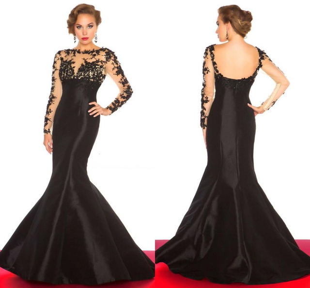 Modest See Through Cheap Mermaid Backless Pageant Gowns 2015 India ...