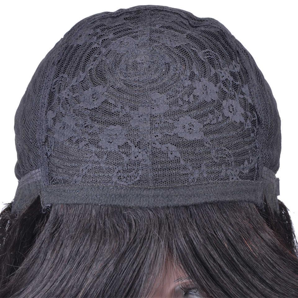 Короткие человеческие волосы парики бразильские Реми волосы боб парик с челкой предварительно сорвал человеческие волосы парики для черных женщин