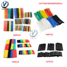 127/140/164/328pcs Heat Shrink Tubing Polyolefin Wrap Wire Car Cable Sleeves PE Insulation 2:1 Shrinkable Tube Assortment Kit(China)