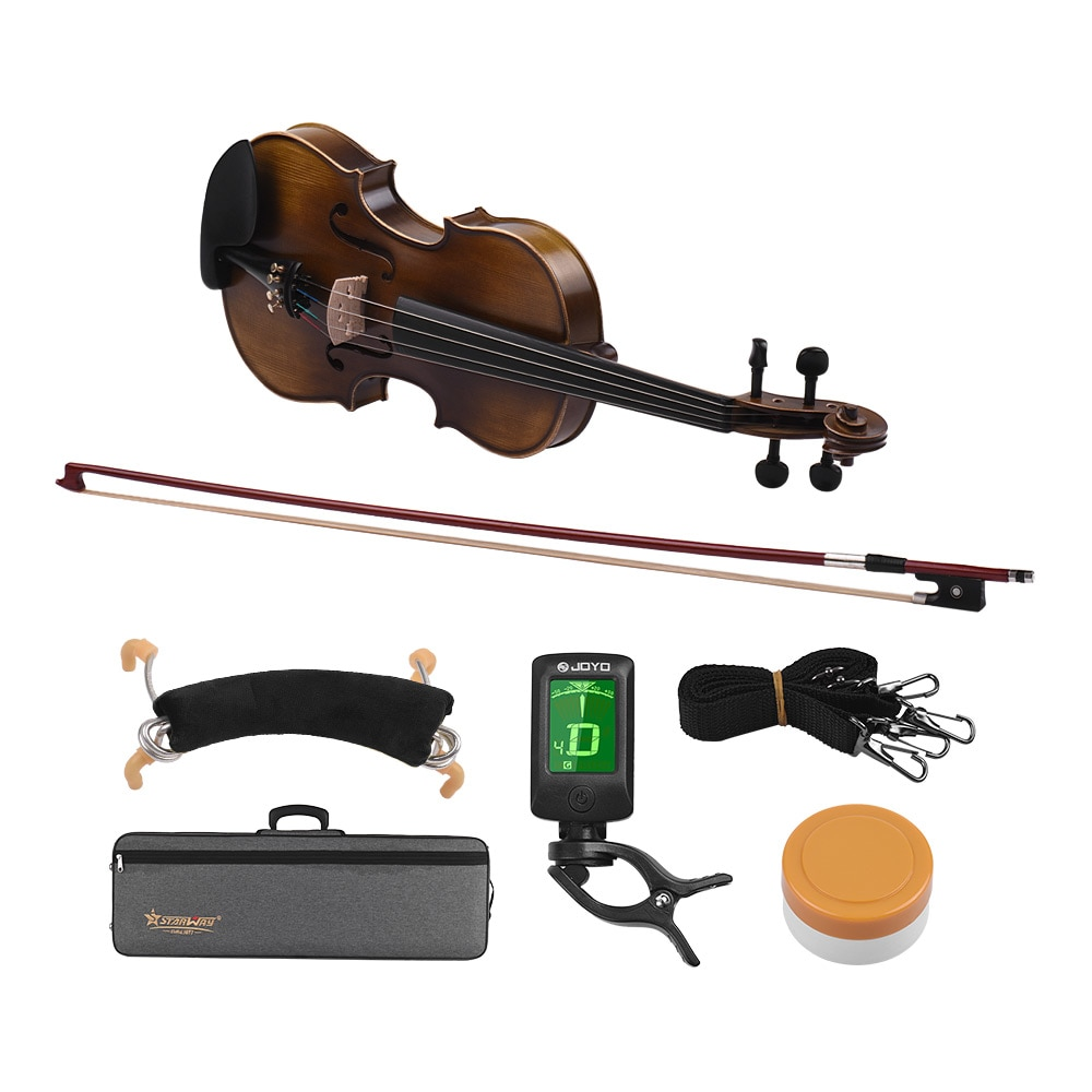 4/4 Full Size Classic Violin Fiddle High-grade Spruce Topboard & Backboard with Violin Bow Bridge Padded Carry Case4/4 Full Size Classic Violin Fiddle High-grade Spruce Topboard & Backboard with Violin Bow Bridge Padded Carry Case