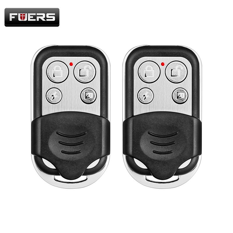 2pcs wireless metallic metal remote control setting arm/disarm for Fuers G19 G18 GSM security Burglar alarm system wireless remote control arm disarm detector for fuers touch keypad panel gsm pstn home security burglar voice alarm system