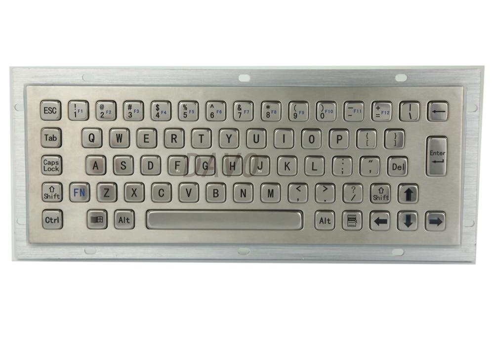 Kiosk Metal Keypad Stainless Steel Vandal - Proof Panel Mount Industrial Mini Keyboard Metallic Keyboard Key Caps