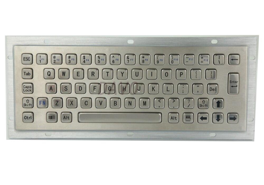 Kiosk Metal Keypad Stainless steel vandal - proof panel mount Industrial Mini Keyboard metallic keyboard 100m industrial 4g vpn router f3836 for atm kiosk substation vehicle