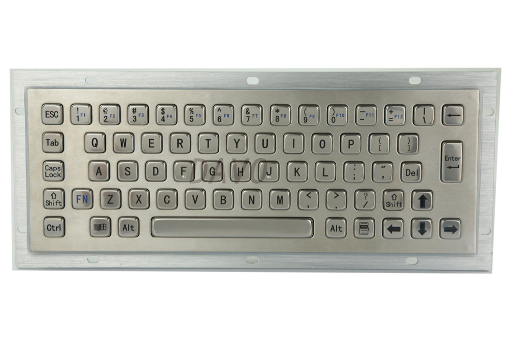 Kiosk Metall Tastatur edelstahl vandal-proof panel mount Industrie Mini Tastatur metallic tastatur <font><b>key</b></font> caps image