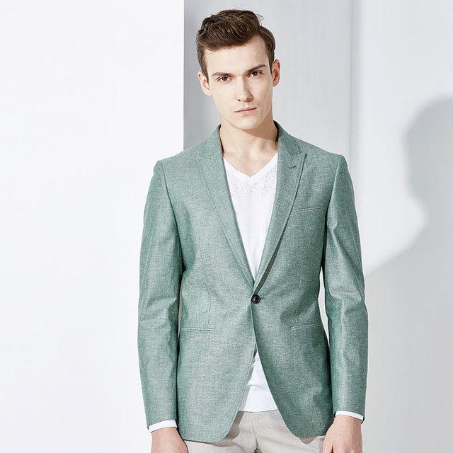 90 7 Abbigliamento Manicotto Marca Uomo Pieno Cotone Lino Giacca E qp1nPEH