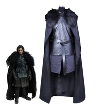 HOT American TV Game of Thrones Cosplay Costume Song of Ice and Fire Jon Snow Cosplay Unisex Halloween Party Costumes Full Set