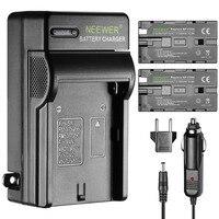Neewer 2 Stuks 2600Mah Li-Ion Vervangende Batterij Voor Sony F550 En Ac Charger Met Us/Eu Plug Auto adapter