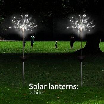 DIDIHOU Lámpara Solar De Globo De Hierba Al Aire Libre 90/120/198 LED Para Jardín Césped Paisaje Lámpara Vacaciones Jardín Luz