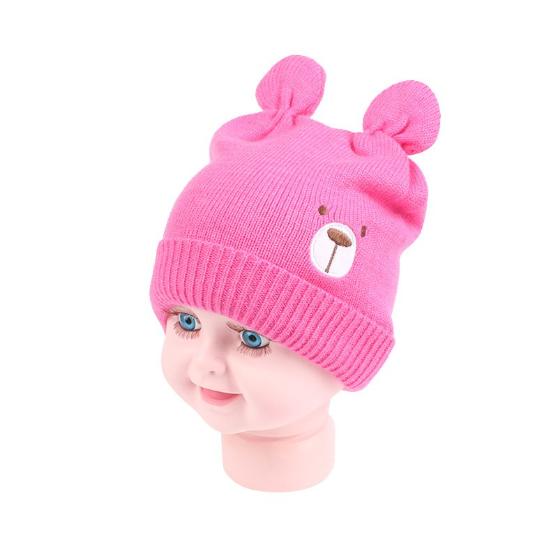 Bear Cotton Baby Hat Beanie Girl Warm Autumn Newborn Beanie Hat Cute Ears Knitted Baby Girls Hat Soft Newborn Baby Boys Clothing
