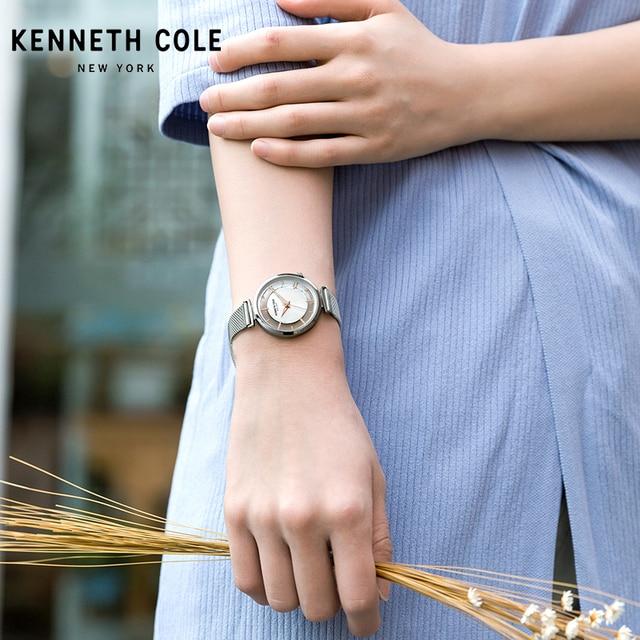 Kenneth Cole 2018 New Arrivals Womens Watches Quartz Steel Gold Silver Strap Bracelet Luxury Brand Watches KC50232004 5