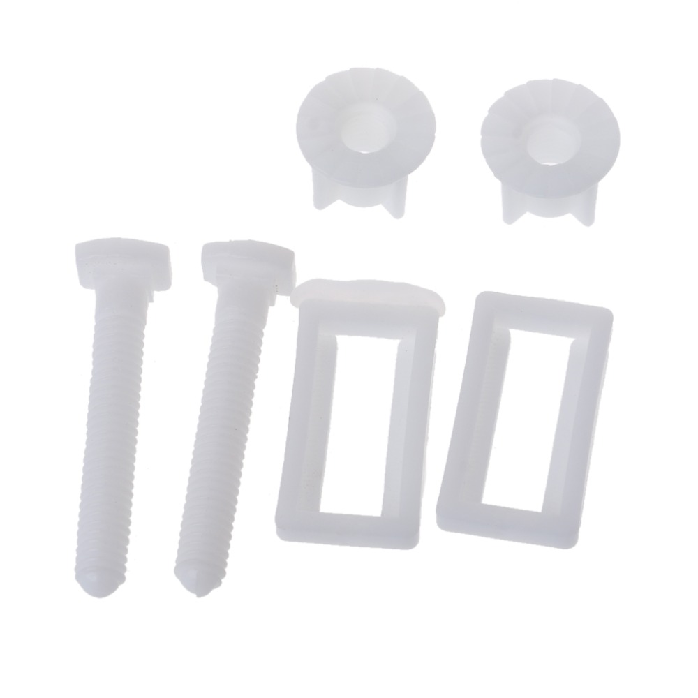 1 Pair Toilet Seat Hinge Bolts Screw Fixing Fitting Kit Toilet Seat
