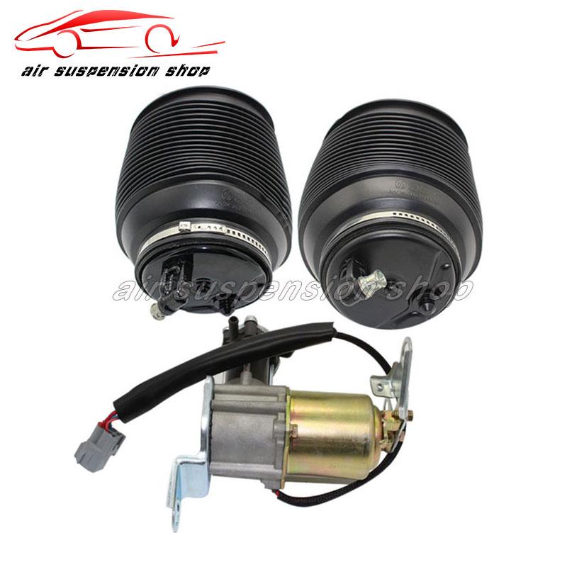 Set Rear Air Suspension Spring Bag Gas Shock Compressor Pump For Toyota Land Cruiser Prado 120 Lexus GX470 4808035011 4891060020