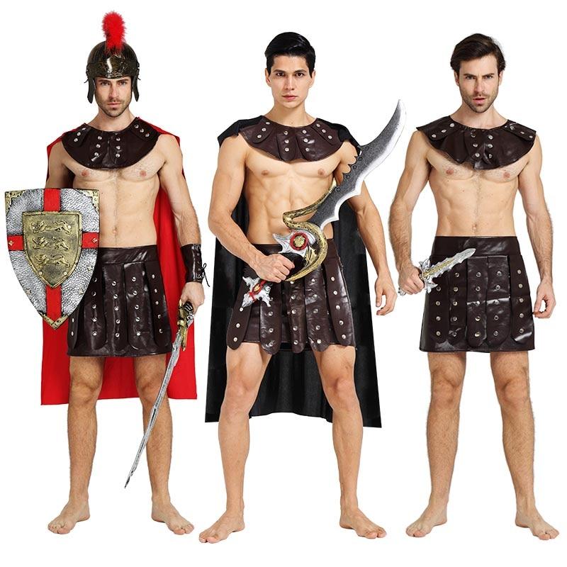 Adults Roman Greek Gladiator Warrior Princess Prince Roman Spartan Costume Party Cosplay Halloween Costumes Soldier Couple Dress camiseta para quemar grasa