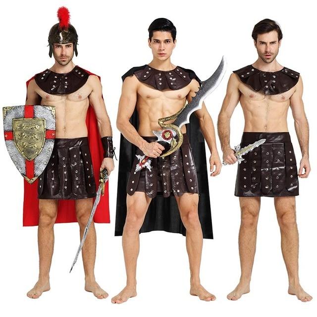 Adults Roman Greek Gladiator Warrior Princess Prince Roman Spartan Costume Party Cosplay Halloween Costumes Soldier Couple  sc 1 st  AliExpress.com & Adults Roman Greek Gladiator Warrior Princess Prince Roman Spartan ...
