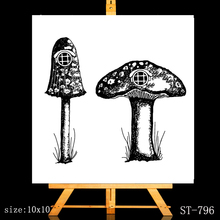 ZhuoAng Mushroom big house Clear Stamps/Card Making Holiday decorations For  scrapbooking Transparent stamps 6*9cm