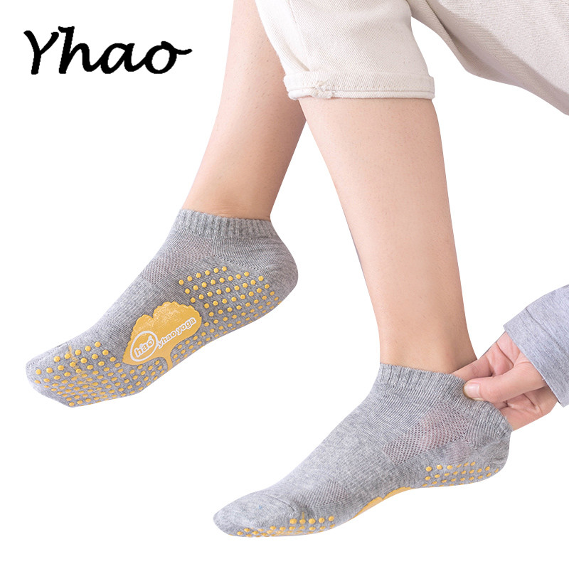 Yhao New Full Toes Women Yoga Socks Anti-Slip Trampoline Dance Barre Fitness Socks Quick-Dry Keep Warm Pilates Socks