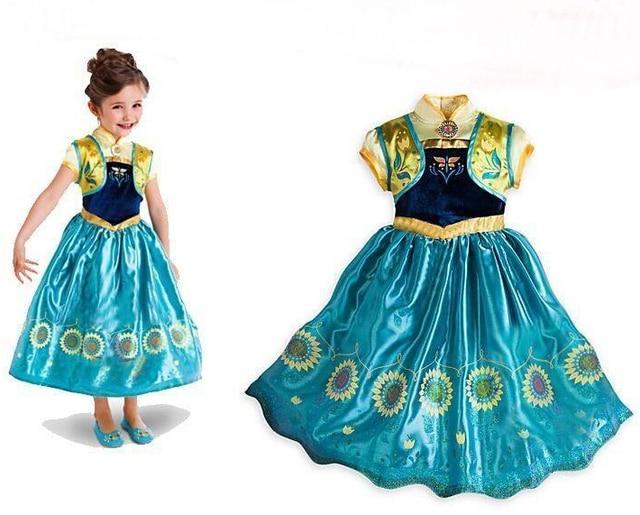 d5405e7d04696 Princess Anna Costume Robe Anna Fantasia Da Elsa Masquerade Ball Gowns For  Kids Winter Halloween Costumes Sc 1 St AliExpress.com
