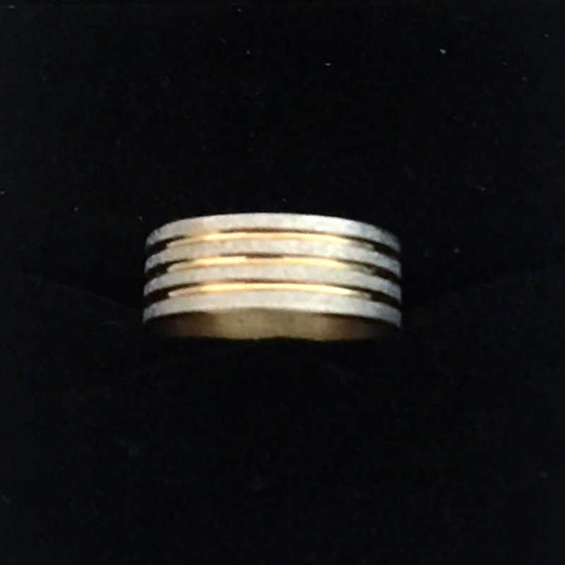 สีเหลืองทอง316Lสแตนเลสเครื่องประดับแหวนแต่งงานสำหรับผู้หญิงผู้ชายนิ้ววงแหวนไม่เคยจางnj32