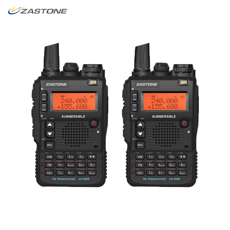 (2pcs) Zastone UV-8DR 5W Mini Radio VHF/UHF 136-174MHz 400-520MHz Walkie Talkie CB Ham Radio 128 Channel Two Way Radio Telsiz