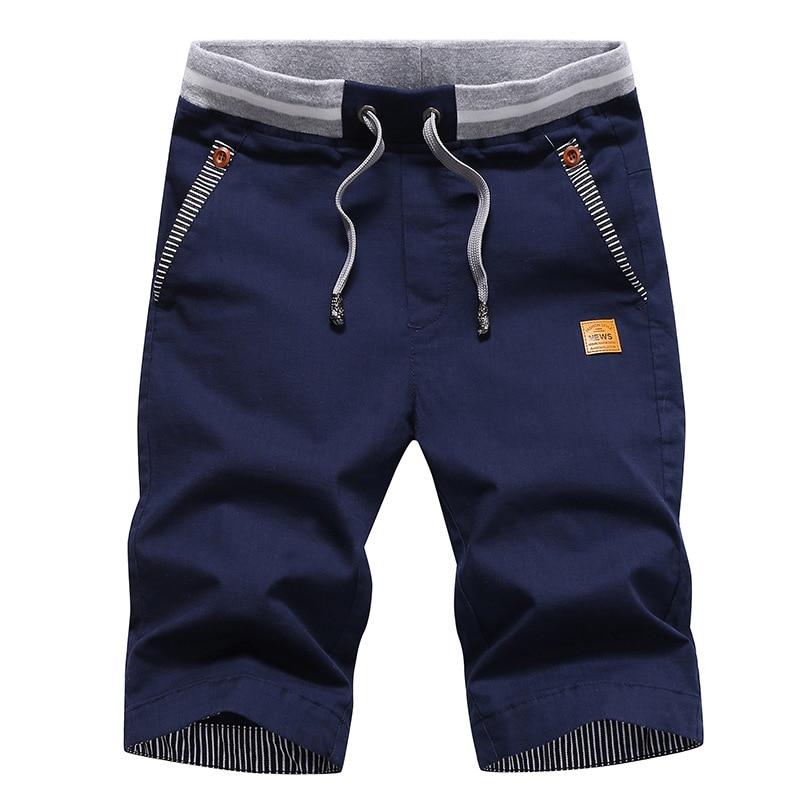 Men's Shorts Slim-Fit Bermuda Summer Cotton Beach Masculina Casual Comfortable