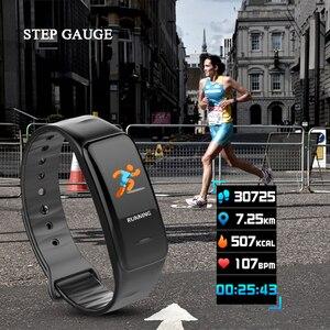 Image 3 - 健康ブレスレット心拍数モニター血圧測定スマートバンドフィットネストラッカーリストバンド iphone xiaomi pk fitbits