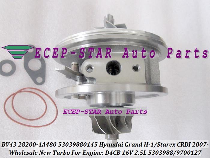 цена на Turbo CHRA Cartridge BV43 28200-4A480 53039880145 53039700145 For HYUNDAI H-1 Cargo Travel Grand Starex CRDI 2007 D4CB 16V 2.5L