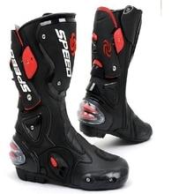 Горячая Продвижение Длинные Мотоциклов Обуви Спорт Мотокросс Велоспорт Длинные Сапоги Speed Байкеров Гонки Gears B1001