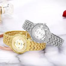 Women Quartz Watch Fashion Bling Casual Ladies Female Gold Crystal Diamond For Clock
