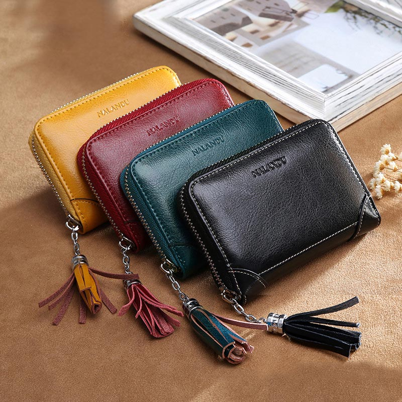 Vintage Leather Wallet Card Pack Multi-card Bit Cowhide Business Card Holder High Capacity Male Card Sets Lady Solid Color Purse 240 cards large capacity pu leather business card holder card collection book 1493