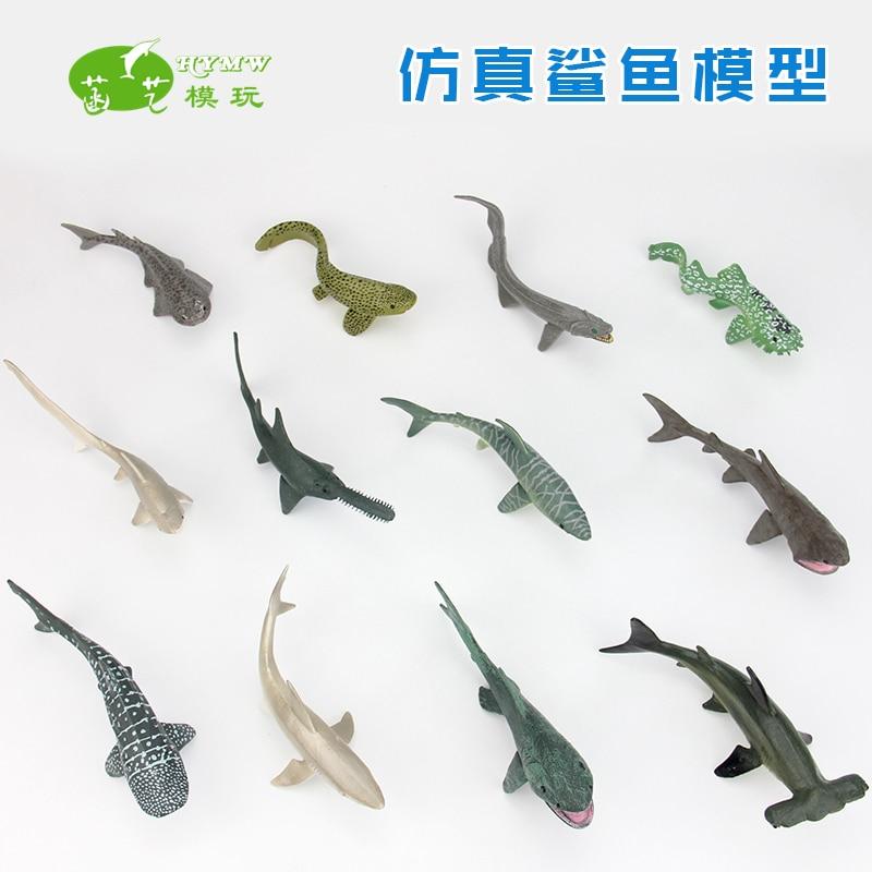 Shark model for solid plastic pvc ocean font b animal b font galeoid child toy gift
