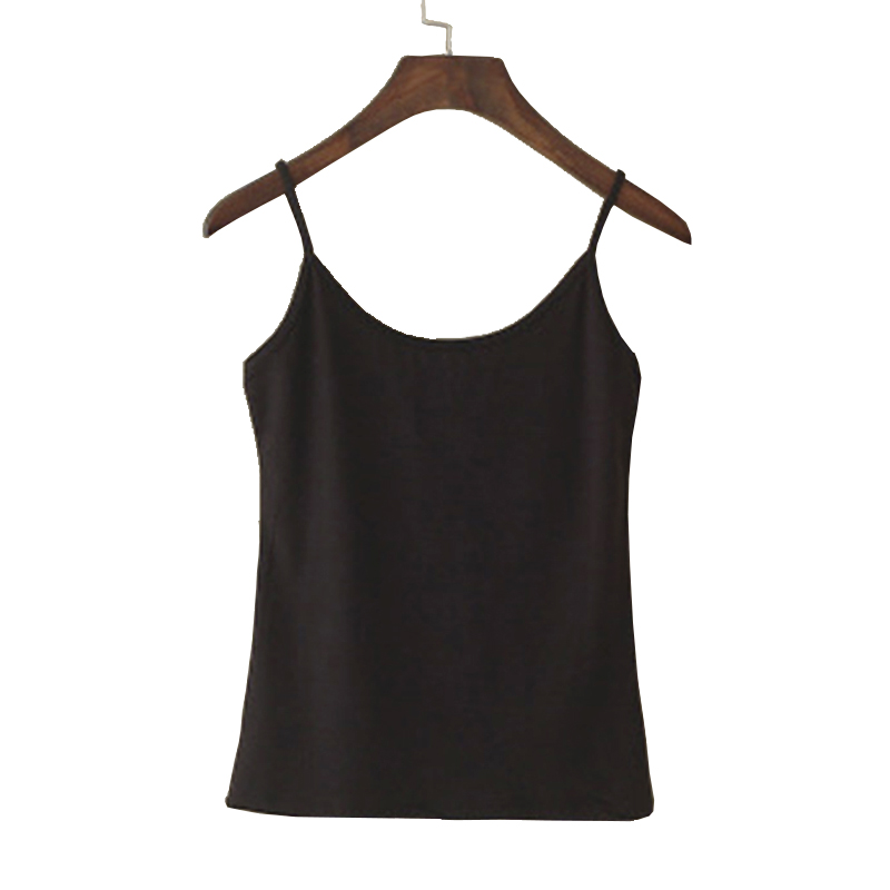 Tank     top   Women Summer Casual Camisoles Women's   Tops   T-shirt Spaghetti Strap Cropped Vest Female Camis Fashion Synthetic cotton