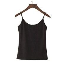 T shirt court pour femme hauts, court, avec bretelles Spaghetti, en coton synthétique à la mode, été débardeur