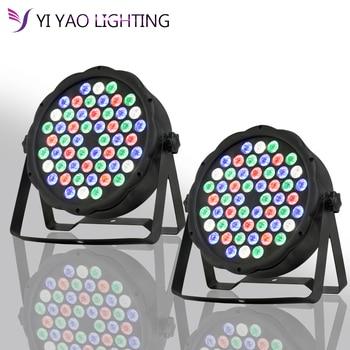 2pcs/lot LED Par Can 54 x 3W RGBW Color Full color With 8 Channels Light For DJ lighting