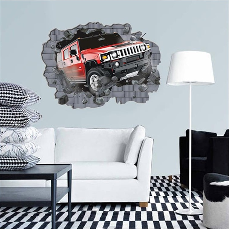 Sofa King Fast Racing: King Size Cartoon Car Vinyl Wall Stickers For Kids Rooms
