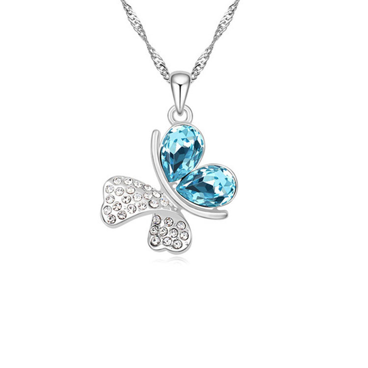 Romantic Butterfly crystal Necklace 1