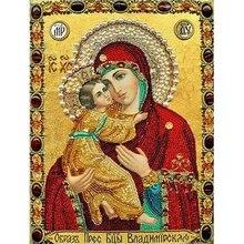 5d Picture Of Rhinestones Diamond Embroidery Religion DIY Diamond Painting Diamond Mosaic Resin round figure religious series