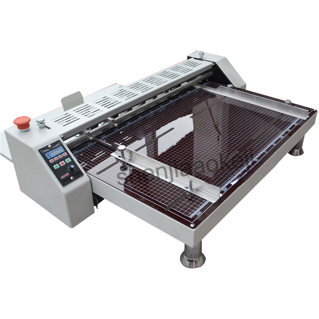 Electric paper creasing machine high speed paper Creaser spine line pressed rice noodle single mark cutting offset machine 220V
