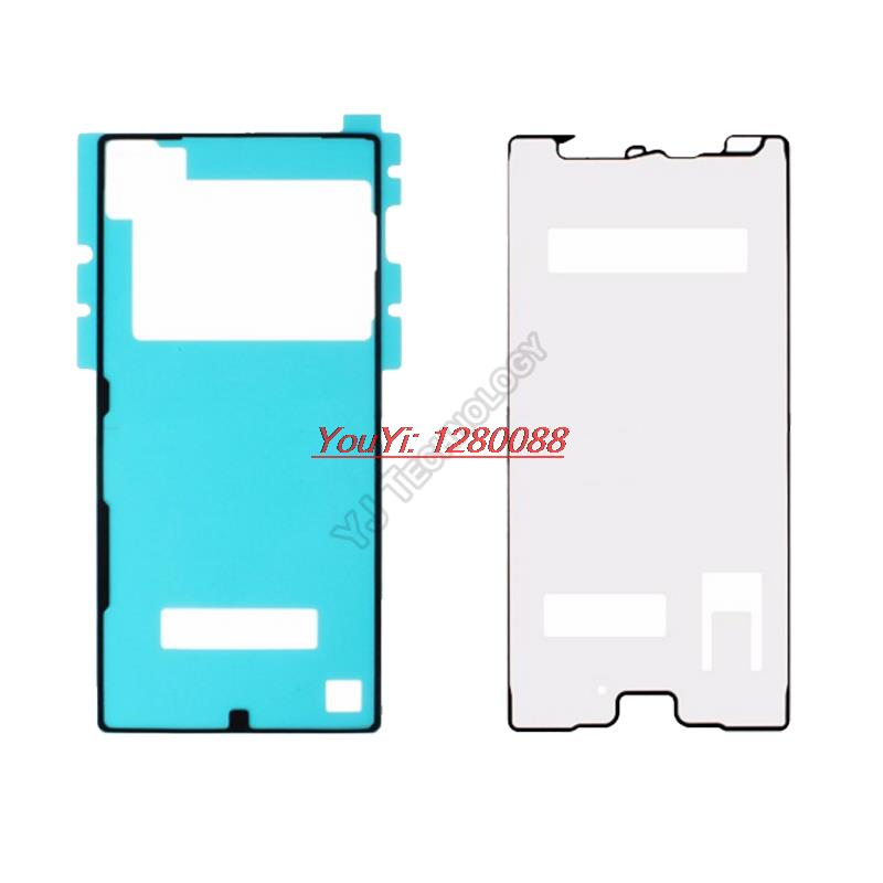 2pcs/set 3M Adhesive Tape Waterproof Sticker For Sony Xperia Z5 Premium Dual Front LCD Supporting Frame And Back Battery Cover