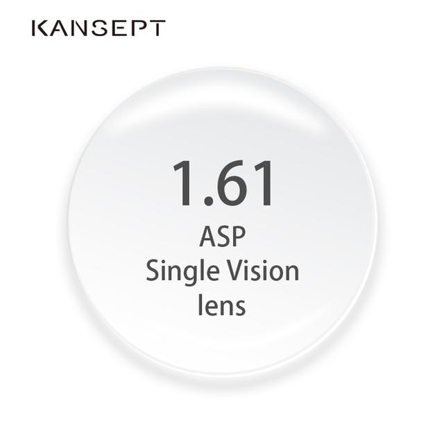 KANSEPT 1.61 endeksi reçete lensler CR 39 reçine asferik gözlük lensler miyopi/hipermetrop/presbiyopi gözlük