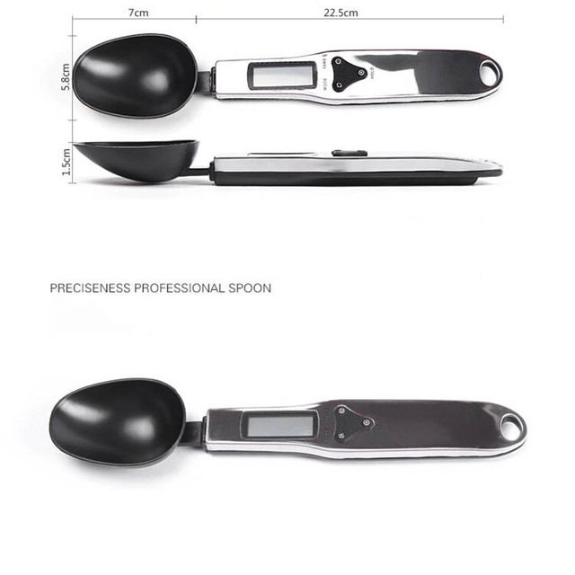 300g/0.1g Portable LCD Digital Kitchen Spoon Scale 5