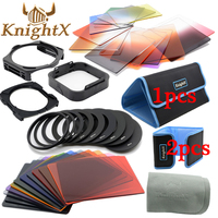 KnightX 24 Filter 9 Ring 49mm 52mm 58mm 67mm 72mm 77mm 82mm color cokin p series set For nikon canon nd lenses d5300 d5100 700d