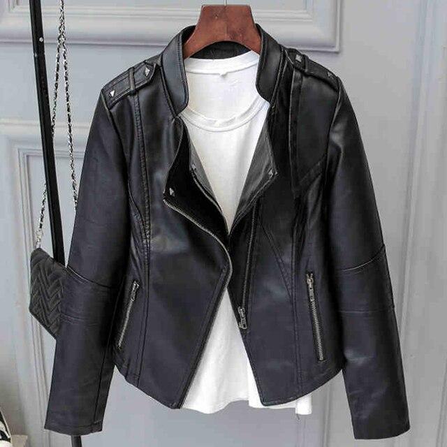 f54c0bbb8 Moda primavera mulheres jaqueta de camurça preta com zíper luz jaquetas de  camurça de couro com