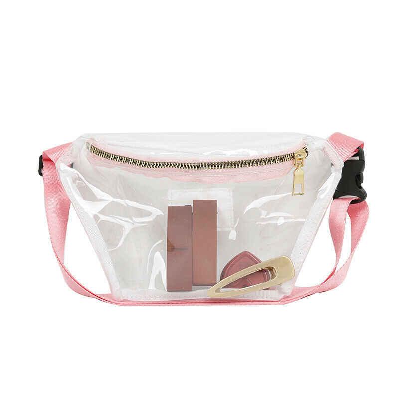 ผู้ชายผู้หญิง Unisex เอวกระเป๋า PVC ใสกระเป๋าใสวุ้นกระเป๋าแฟชั่นเอวกระเป๋า 2019 ใหม่