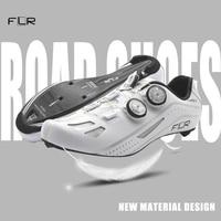 FLR professional race carbon fiber bicycle shoes lock shoes breathable ultra light racing team sports shoes road bike shoes men