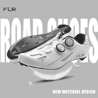 FLR professional race carbon fiber bicycle shoes lock shoes breathable ultra light racing team sports shoes road bike shoes men