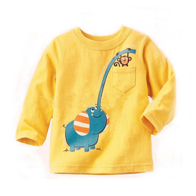 Ropa 2016 de los niños en el otoño y el invierno de los niños de La Camiseta exterior y de invierno de los niños camiseta